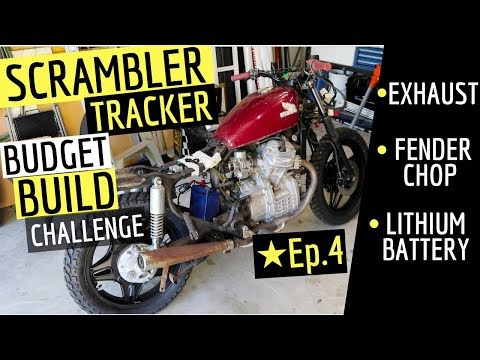 Scrambler On A Budget ☆ Front Fender Chop, Lithium Battery