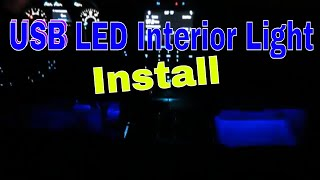 USB Powered LED Car Interior Neon Light Installation How To
