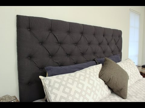 how to make your own tufted headboard youtube. Black Bedroom Furniture Sets. Home Design Ideas