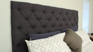 How To Make Your Own Tufted Headboard