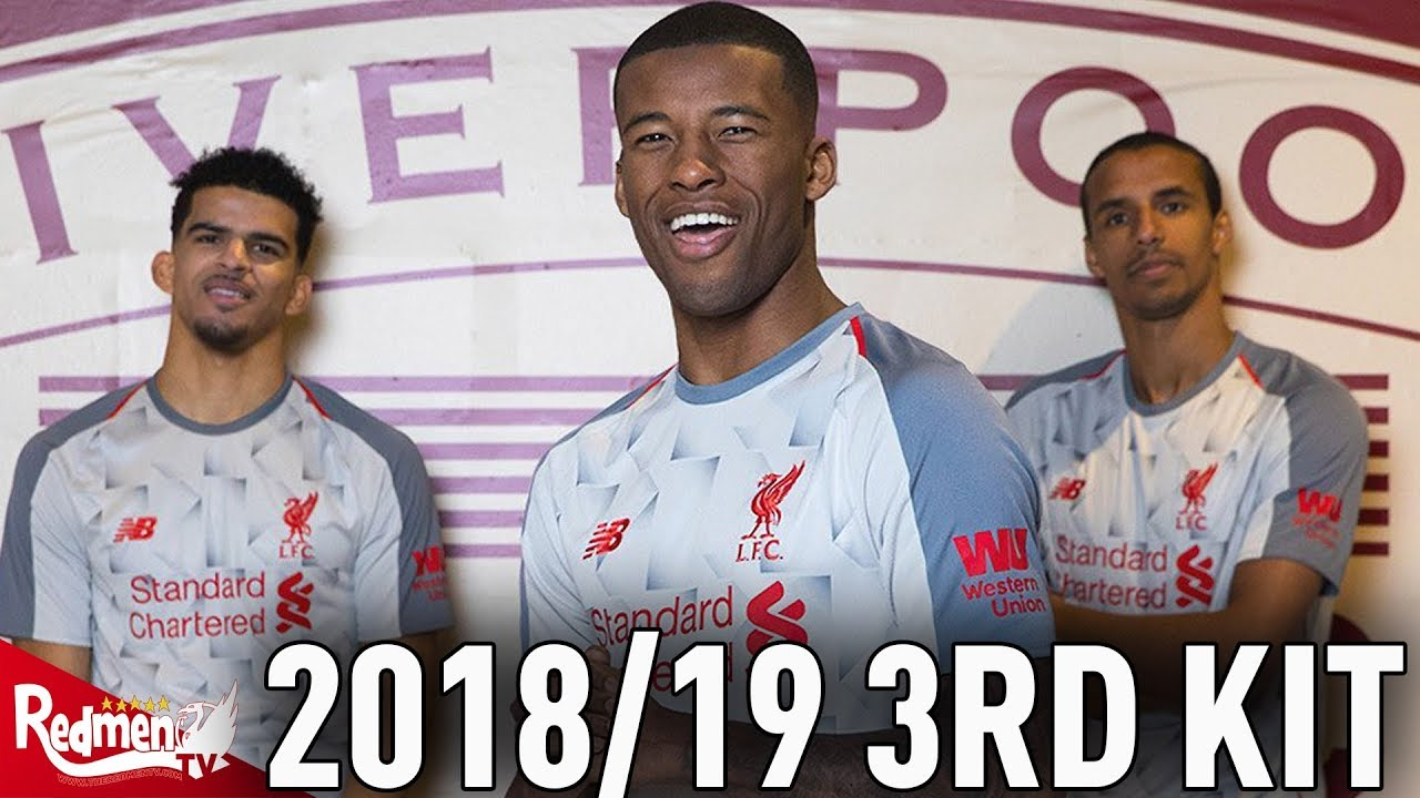 dba76e16aeb Liverpool s 2018 19 3rd Kit CLOSE UP HD UNBOXING! - YouTube
