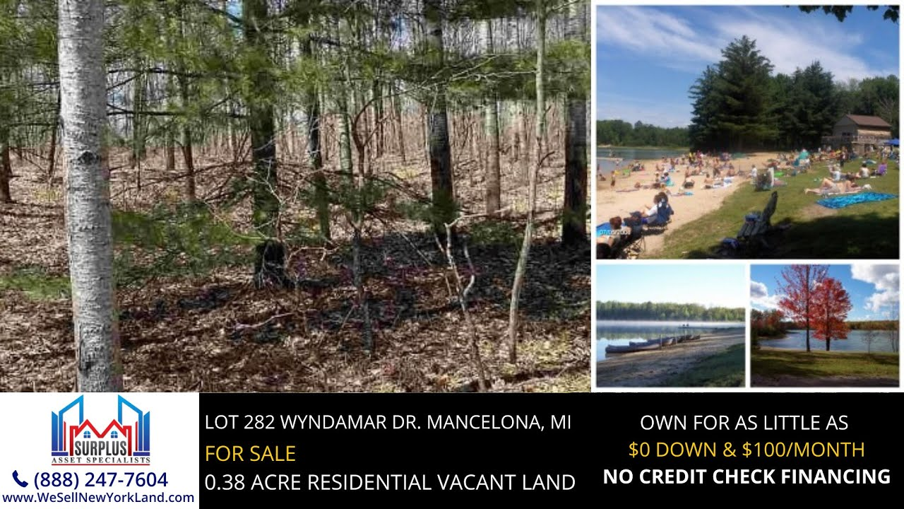 Lot 282 Wyndamar Dr.  Mancelona, Michigan Land For Sale - www.WeSellNewYorkLand.com
