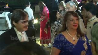 Actor Sanjay Khan with wife Zarine Khan At Nein Nitin Mukesh Host Grand Wedding  Reception Party