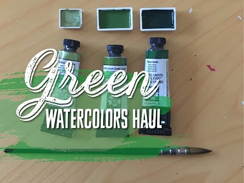 Daniel Smith Watercolor Haul- GREEN