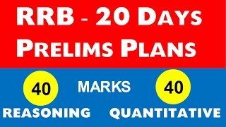 RRB PO / Clerk - 20 Days  Plan for Prelims (100 % work) 2017 Video