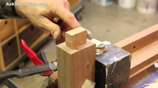 42 Tenon Cutting Demo Using Japanese Hand Saws - Part 3 of 4