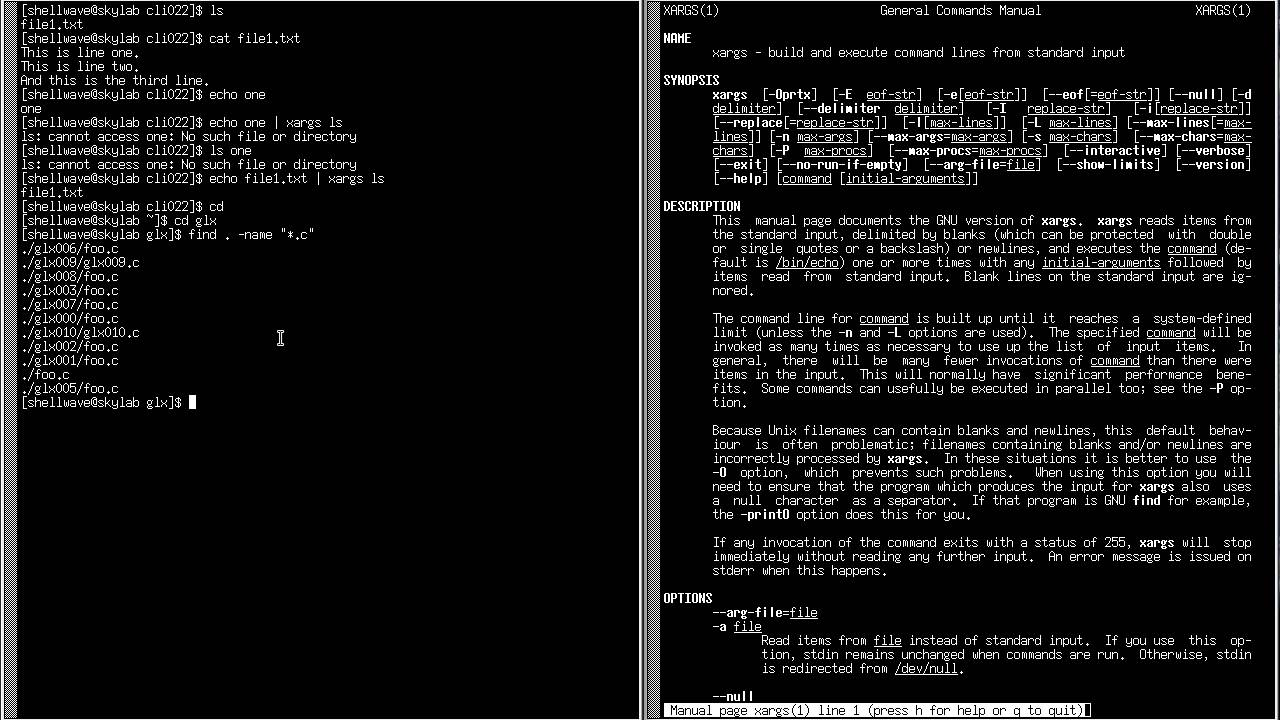 Linux Command Line Interface Cli Tutorial 022 Xargs Command