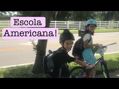 ROTINA DA MANHÃ ESCOLA AMERICANA- INDO PARA ESCOLA NOS ESTADOS UNIDOS - EUA - ORLANDO