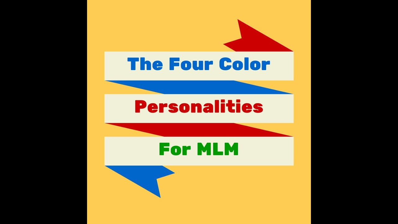 Book Review The Four Color Personalities For MLM YouTube