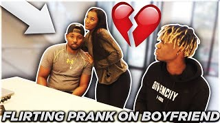 FLIRTING WITH NATESLIFE PRANK ON BOYFRIEND!!! **HE GETS MAD**