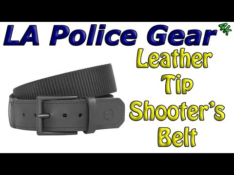 LAPG Leather Tip Shooters Belt