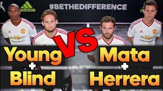 Mata, Herrera & Jez VS Young, Blind & Billy | EPIC Football Tennis Battle