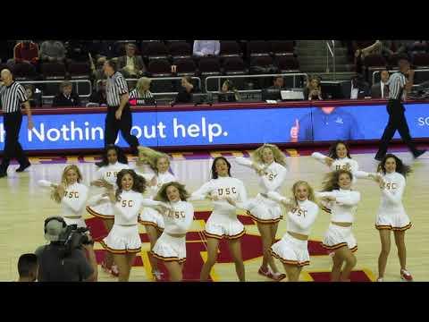 USC Song Girls - Timeout performance USC vs Arizona State 1/22/2017