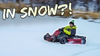 Shifter Kart with Studded Tires on THIN ICE!!
