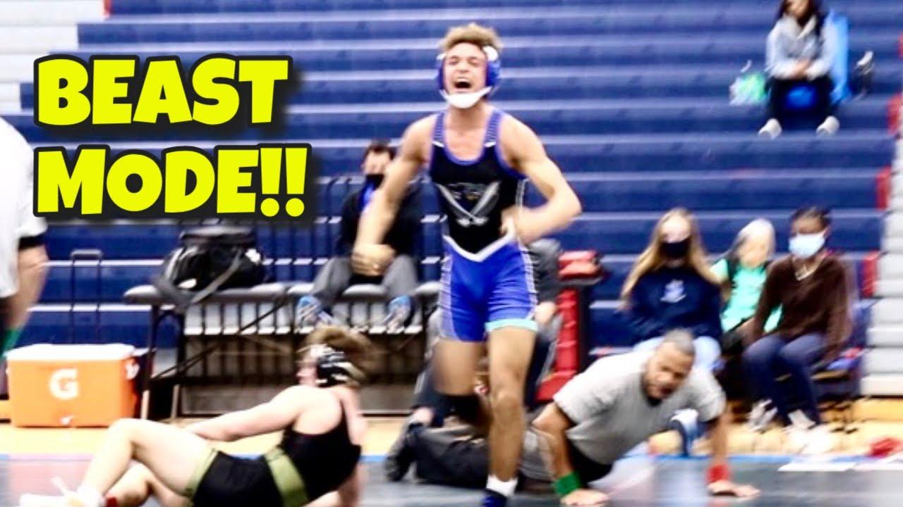 You Can't Stop Him! High School Freshman Wrestling Beast!