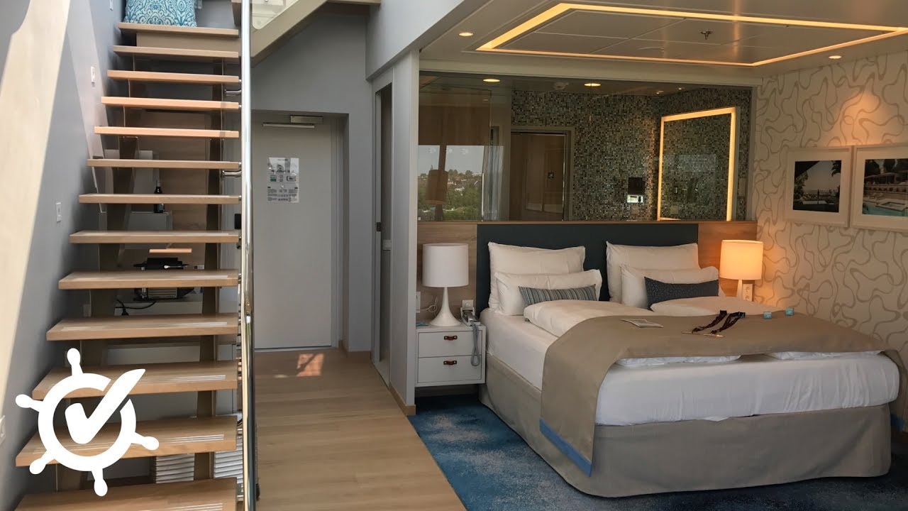 mein schiff 6 himmel meer suite youtube. Black Bedroom Furniture Sets. Home Design Ideas
