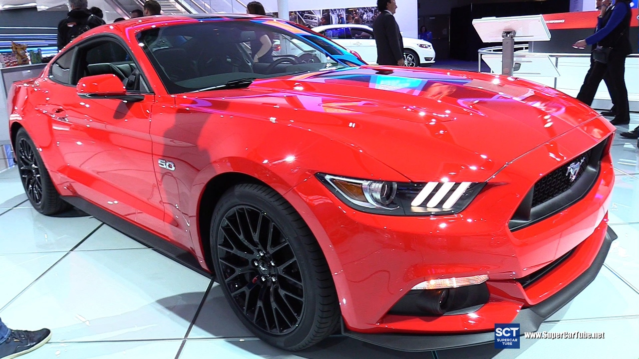2017 Ford Mustang 5 0 Gt Coupe Premium Exterior And Interior Walkaround Detroit Auto Show