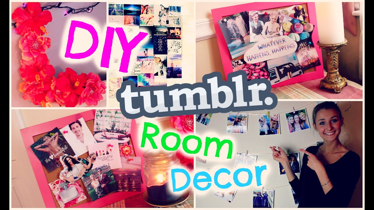 DIY DORM ROOM DECOR Tumblr Inspired EASY CHEAP YouTube