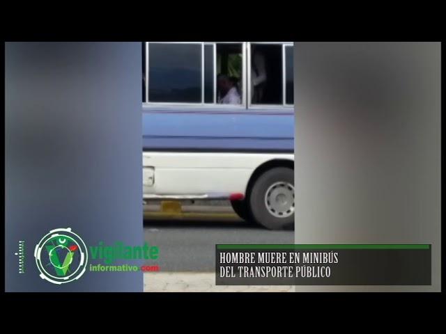 Hombre muere en minibús del transporte público