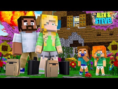 Minecraft ALEX CHANGES HER IDENTITY & MOVES BACK INTO THE HOUSE!!! Life of Alex & Steve