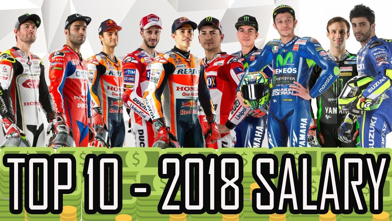 Top 10 2018 Moto Gp Riders S Salaries Hd Youtube