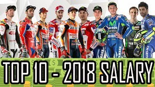 TOP 10 - 2018 MOTO GP RIDERS´S SALARIES* - HD