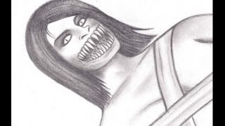 How to draw Mileena Unmasked Flesh Pit Costume (Mortal Kombat 2011)