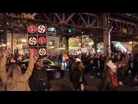 Some views of the Chicago post election protests