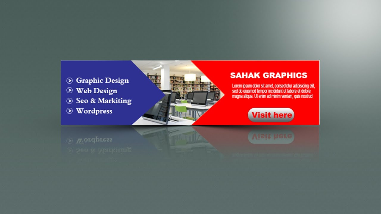 Photoshop Tutorial | Web banner Design | In Hindi Urdu ...