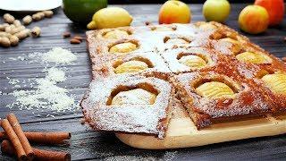 Пирог с яблоками, миндалем и кокосом- Рецепты от Со Вкусом