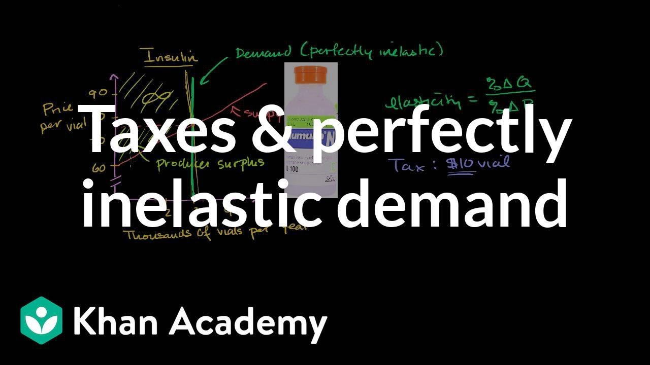 Taxes And Perfectly Inelastic Demand Video Khan Academy