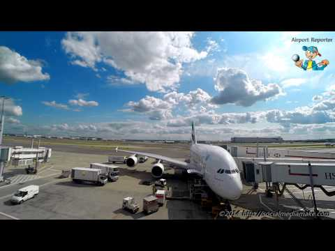 Emirates Business Class Lounge | Panorama View | Aircraft Cargo Loading @HighSpeed | Time Lapse