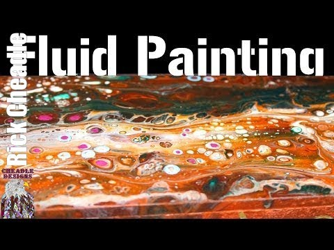 13.Quick Video of a recent commission. Acrylic Pouring. Painting. Lao Tzu Quote