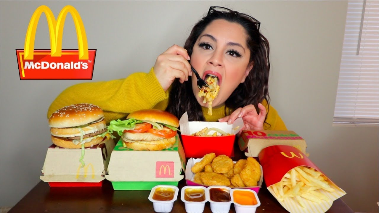 Mcdonalds Mukbang New Cheese And Bacon Fries Posi Claudia