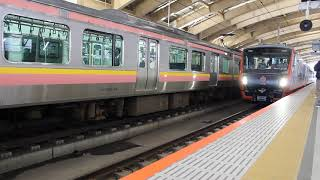 JR東日本 HB-E300系 快速 海里 新潟駅 発車(発車メロディあり)