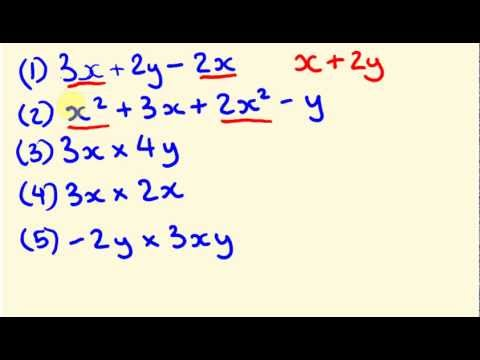 Algebra Introduction - the basics