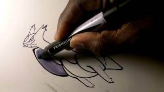 Prismacolor speed draw Mega Latias