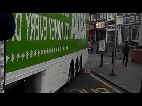 Impatient Retard Uses Bus Lane to Undertake Reversing Lorry - N549 OUU