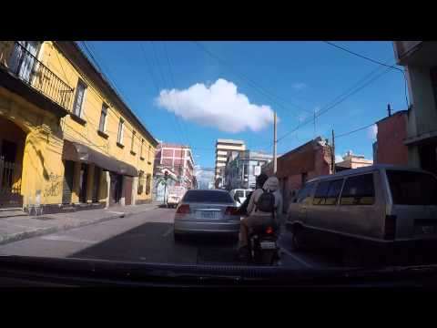 Guatemala City, drive to National Palace - Palacio Nacional -  October 2015 GoPro