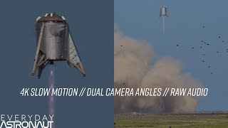 SpaceX StarHopper 4K Slow Motion 150m Hop and COPV flying off (1.5 miles away)