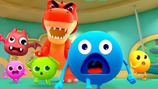 무지개 사탕 장난감 나라 대모험~!|공룡이다~! 도망가!|냠냠동요|색깔송|베이비버스 동요|BabyBus