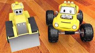 Bulldozer with Lucas the Monster Truck and Ted the train Cartoon for children