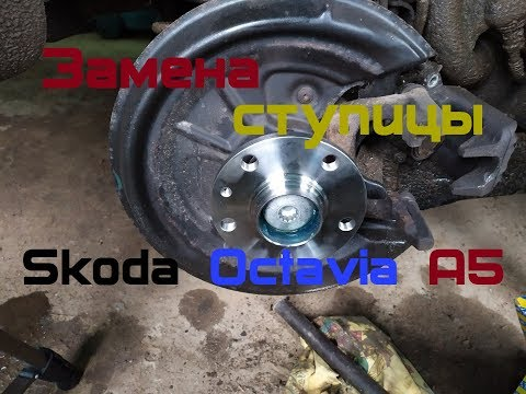 Skoda Octavia A5 1.6 MPi. Замена заднего ступичного подшипника (ступицы).
