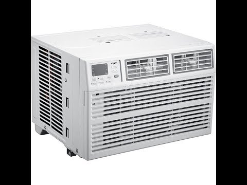 White Whirlpool Energy Star 6,000 BTU 115V Window-Mounted Air Conditioner with Remote Control