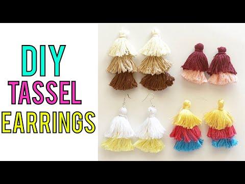DIY TASSEL EARRINGS | HOW TO MAKE EASY TASSEL EARRINGS FAST