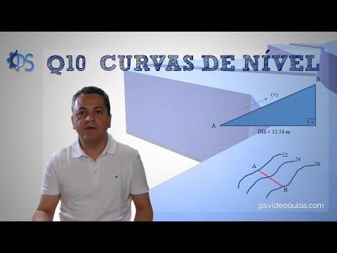 ENGENHARIA TOPOGRAFIA - Questões de Provas 10 - Curvas de Nível - Declividades Percentual e Angular