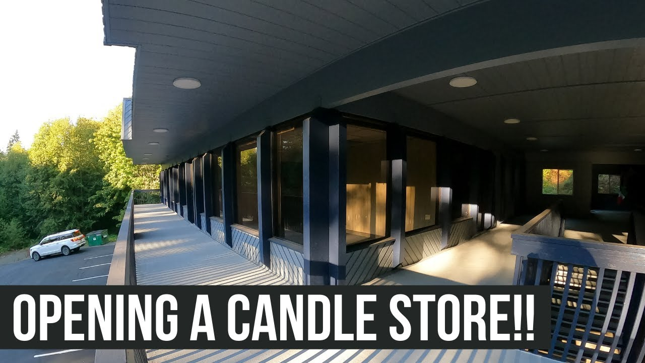 Opening my own candle store and warehouse!! A quick walkthrough of the new candle space