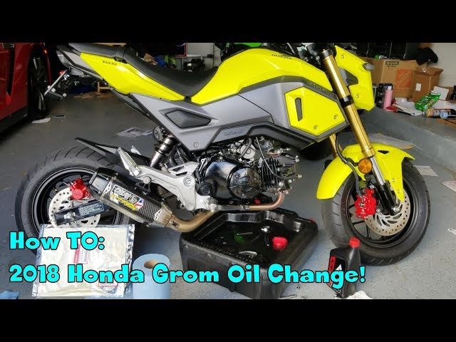How to change oil on a 2018 Honda Grom!