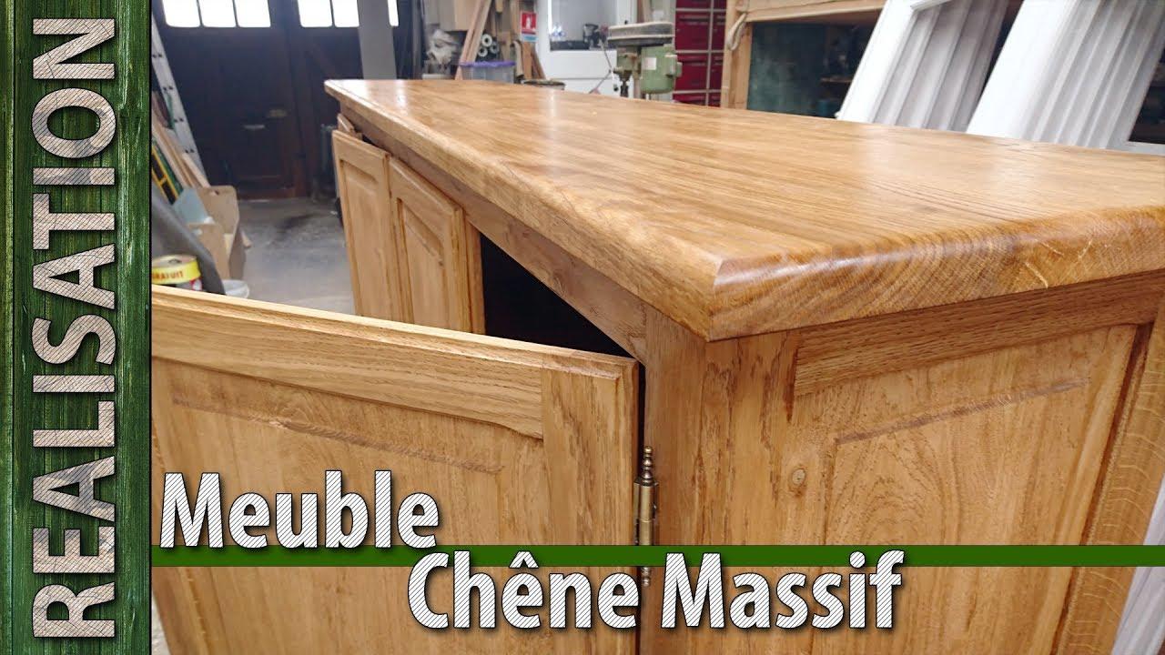 fabrication artisanale d un meuble en chene massif