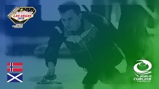 Norway v Scotland - Round-robin - 361º World Men's Curling Championship 2018